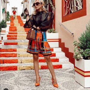 Zara Bloggers favorite 💃🏼Zara print pleats skirt